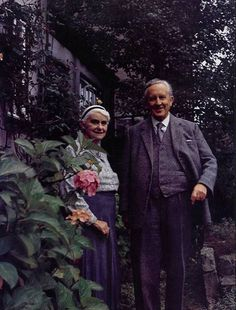Edith and JRR Tolkien. Their love story was the inspiration for the Epic story of Beren and Lúthien.