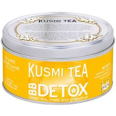 Kusmi Tea Bb Detox Tea ($21) ❤ liked on Polyvore featuring beauty products and yellow