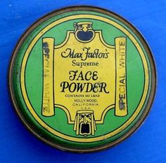 Max Factor Hollywood Makeup tin 1930's art deco