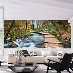 Brewster Home Fashions Ideal Decor Path into the Forest Wall Mural & Reviews | Wayfair