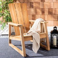 Teak Adirondack Chairs, Outdoor Chairs, Outdoor Furniture, Outdoor Decor, American Home Furniture, Rattan Rocking Chair, Glider Chair, Teak Wood, Decor Styles