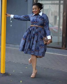 Temmie House Of Fashion: Lovely Ankara Short Gown For The Smart Plus Size L. African Print Dresses, African Dresses For Women, African Wear, African Attire, African Fashion Dresses, African Women, African Prints, African Style, Ankara Fashion