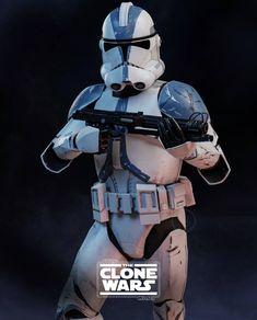 Star Wars Pictures, Star Wars Images, Star Wars Clone Wars, Star Wars Art, Guerra Dos Clones, 501st Legion, Star Wars Wallpaper, Artwork Images, Clone Trooper