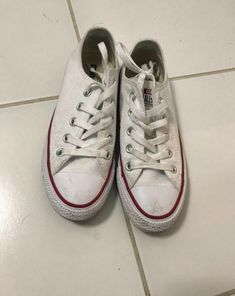 58727a93d484 Converse All Star Low Top Sneakers White Men s Size 3 or Womens Size 5   fashion