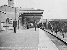 Hucknall Station, Midland Railway (later Hucknall Byron), c. looking north Local History, British History, Nottingham Station, Disused Stations, Steam Railway, History Photos, Photo Archive, Old Photos, Street View