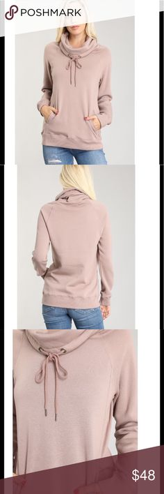 JUST ARRIVED✨Cowl neck pullover sweatshirt Beautiful mauve color. The Chic  Petunia Tops Sweatshirts & Hoodies