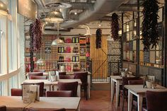 """Bill's London - partition style. Another pinner said: """"My favourite eatery so far!"""""""