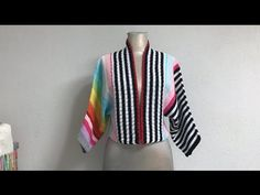 Colorful Cardigan Made From Arm – Knitting Crochet Patterns Arm Knitting, Knitting Patterns, Crochet Patterns, Crochet Videos, Blouse Patterns, Knit Crochet, Stuff To Buy, Color, Tops