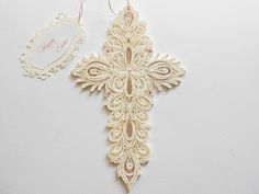 Cross/Quilling cross/paper cross/Easter by PaperArtbyAda on Etsy