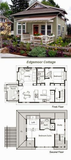 Edgemoor cottage, make the 2nd floor one big master suite with walk in closet, make 1st floor bedroom smaller (study) add a mudroom