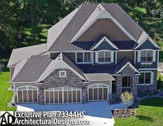 """Game On!"" Exclusive House Plan 73344HS 4-5 Bedrooms with an Indoor hoops court!"