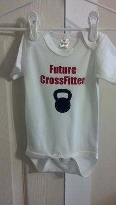 Crossfit Maternity Tshirt Kettlebell Baby by