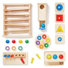 Montessori toddler toys for Ages 11 to 13 months. The Montessori materials in Level 4 encourages your baby to experiment with cause and effect to boost their memory and problem-solving skills. Montessori Baby Toys, Montessori Activities, Infant Activities, Infant Toddler Classroom, Toddler Toys, Toddler Themes, Educational Toys For Kids, Educational Activities, Day Care
