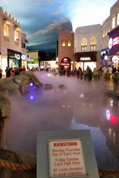 rainstorm at Miracle Mile Shops Las Vegas