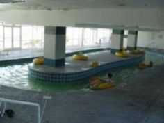 Not the best photo, but we wanted to show the Bay Watch Resort Lazy River does have an indoor component if you'd like to spend a little time out of the sun.