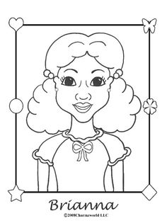 Charmz Girl: Brianna-Coloring Page for African American Girls ...