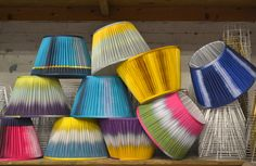 Ikat Lampshades - new from Ptolemy Mann and Copper and Silk: www.ptolemymannshop.com