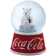 Westland Giftware Resin Water Globe, 45mm, Coca-Cola Polar Bear