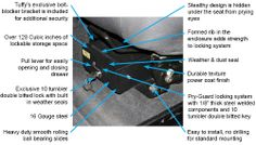 TJ 03-06 & LJ Tuffy Conceal Carry Underseat Security Drawer for Jeep Wrangler (With Flip Seat)