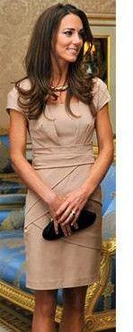 Kate's tan dress.