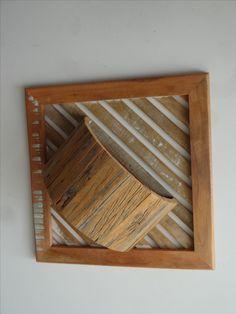 vaso cachepô rustico  madeira de demolição 50x50