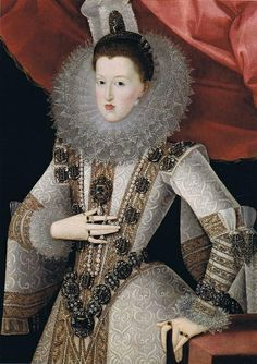 Margarete, Archduchess of Austria  by Juan Pantoja de la Cruz, 1607