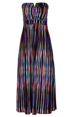 Plus Size Color Weave Maxi Dress