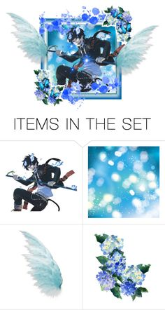 """Blue"" by follow-your-dreams-till-the-end ❤ liked on Polyvore featuring art and anime"
