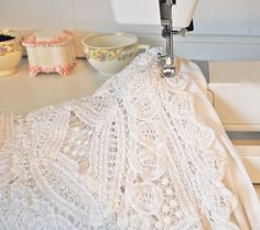 DYI lace doily tank top