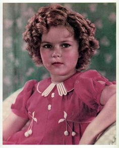 1936 Shirley Temple in cherry dress