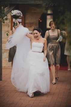 One happy bride!
