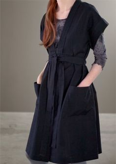 Gudrun Sjoden. I could see making a version of this dress fairly easily - and ohmigosh, the pockets! I LOVE big pockets.