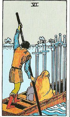 A look at the six of swords tarot card