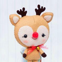 PDF Pattern. Santa Claus Rudolph the reindeer and Santa's