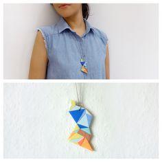 Small Polymer Clay Necklace Meet Market, Polymer Clay Necklace, Daydream, Mosaic, Crop Tops, Women, Fashion, Moda, Fashion Styles
