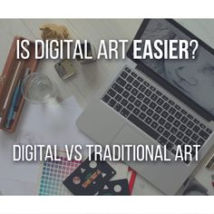 I can honestly never decide. Some years ago, I felt that drawing digitally was easier. As a beginner, you might feel drawn by digital art and think it's easier because of our mutual savior: Ctrl+Z, but it's not always the case and both traditional and digital art are important in your journey.