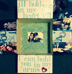 """Deployment care package for my submariner :) """"I'll hold you in my heart till I can hold you in my arms"""""""