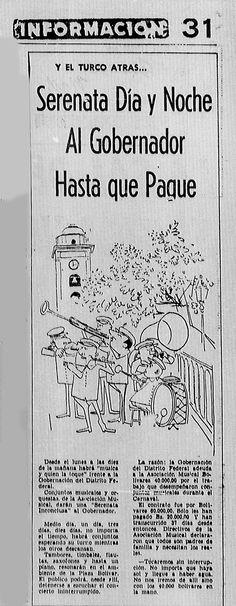 Serenata día y noche al gobernador hasta que pague. Publicado el 18 de marzo de 1961.