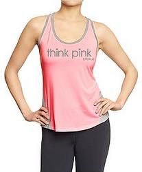 Think Pink Active Semi-Fitted Tank