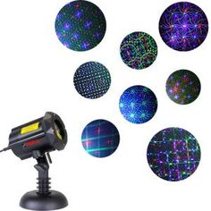 LightShow 61 Effects Christmas LightShow Projection SnowFlurry with Remote-Snowflake-115000 - The Home Depot Christmas Light Projector, Laser Christmas Lights, Holiday Lights, Star Shower Laser Light, Star Laser, Outdoor Garden Lighting, Led, Night Light, Security Lock