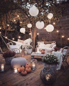 30 Modern Bohemian Garden Design ideas For Backyard Outdoor Rooms, Outdoor Living, Small Outdoor Spaces, Aesthetic Rooms, Patio Design, Balcony Design, Small Garden Design, Backyard Patio, Pergola Patio