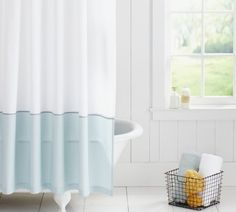 Plaza Shower Curtain  Trying To Decide Between Two Curtains  Going For A  Blue/