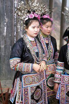Chinese Dong costumes, Zhaoxing, Guizhou, Southern China (侗族)