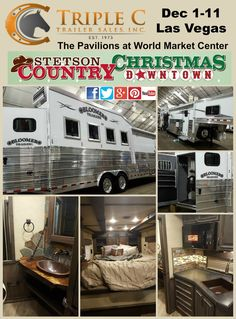 Come out and see Triple C Trailer Sales at Stetson Country Christmas in Las Vegas December 1-11 (@TripleCTrailers)   Twitter