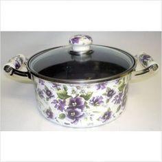 4.5 Quarter Stockpot Purple Flowers
