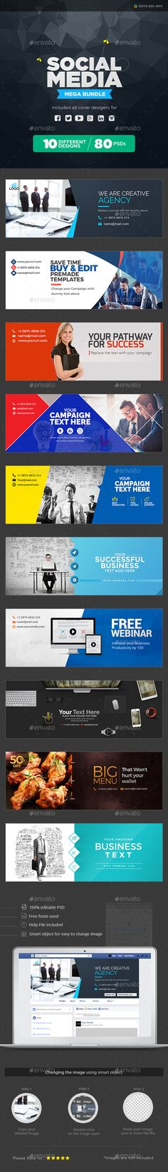 Buy Multi Purpose Social Media Pack - 10 Sets by Hyov on GraphicRiver. Make a statement with this Social Media pack that puts you in the spotlight. Social Media Packages, 100 Free Fonts, Image Font, Visual Communication, New Friends, The Help, Youtube, Purpose, Web Design