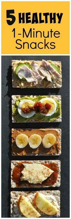 Love these ideas for 5 #healthy snacks you can make in less than a minute!