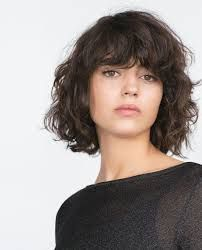 Image result for medium length shaggy curly bangs