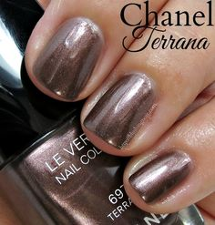 Chanel 697 Terrana. A shimmering chocolate brown. // Collection Mediterranee Le Vernis Nail Colour for Summer 2015