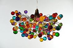Multicolored bubbles light fixture, hanging lighting with different size of bubbles for children room or dining room. unique lighting Multicolored bubbles lighting fixtures , hanging lamp with different size of bubbles for children room or dining room. Chandelier Bulle, Bubble Chandelier, Modern Chandelier, Chandelier Lighting, Bathroom Lighting, Ceiling Pendant, Ceiling Lamp, Ceiling Lights, Hanging Light Fixtures